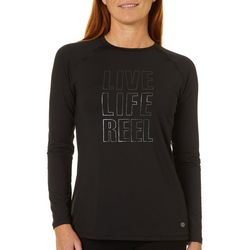 Reel Legends Womens Keep It Cool Live Life Reel Top