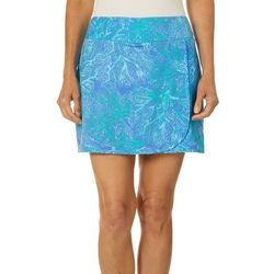 Reel Legends Womens Keep It Cool Coral Puzzle Skort