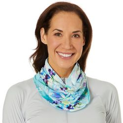 Reel Legends Womens Keep It Cool Color Blossoms Neck Shield
