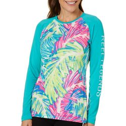 Reel Legends Womens Keep It Cool Sketched Palm Top