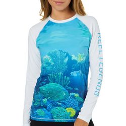 Reel Legends Womens Keep It Cool Underwater Colorblock Top