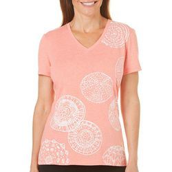 Reel Legends Womens Reel Fresh Urchin Print T-Shirt
