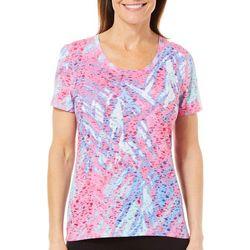 Reel Legends Womens Reel Fresh Watery Palm T-Shirt
