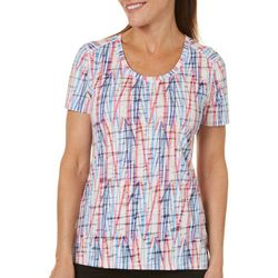 Reel Legends Womens Vertical Action Burnout Top