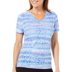 Reel Legends Womens Reel Fresh Twinkle Stripe T-Shirt