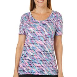 Reel Legends Womens Reel Fresh Painterly Burnout T-Shirt