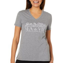 Reel Legends Womens Reel Fresh Sea La Vie V-Neck T-Shirt