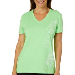 Reel Legends Womens Let's Be Fronds Graphic T-Shirt