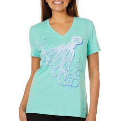 Reel Legends Womens Octopus T-Shirt