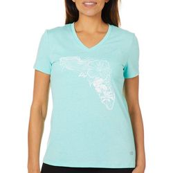 Reel Legends Womens Floral Florida T-Shirt