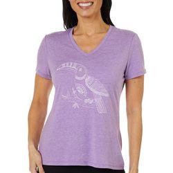 Reel Legends Womens Reel Fresh Tropical Toucan T-Shirt