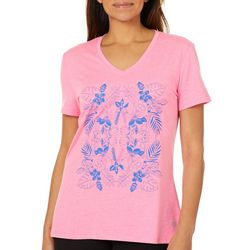 Reel Legends Womens Floral Palm T-Shirt