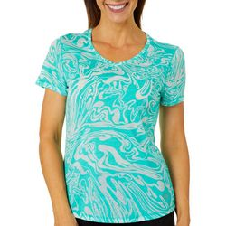 Reel Legends Womens Mineral Swirl Burnout T-Shirt