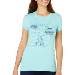 Reel Legends Womens Reel Fresh Boat Scene T-Shirt
