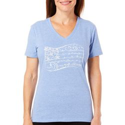 Reel Legends Womens Reel Fresh Beach Flag T-Shirt