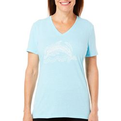 Reel Legends Womens Reel Fresh Dolphin T-Shirt
