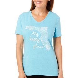 Reel Legends Womens Reel Fresh My Happy Place T-Shirt
