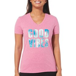 Reel Legends Womens Good Vibes T-Shirt