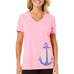 Reel Legends Womens Reel Fresh Anchor T-Shirt