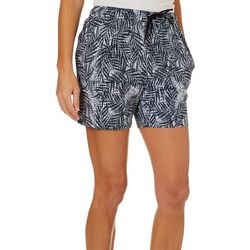 Reel Legends Womens Adventure Textured Palms Pull On Shorts