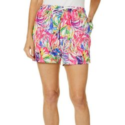 Reel Legends Womens Rainbow Jungle Pull On Shorts