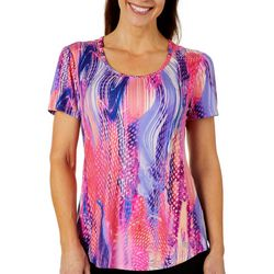 Reel Legends Womens Elite Comfort Colorful Movement Top