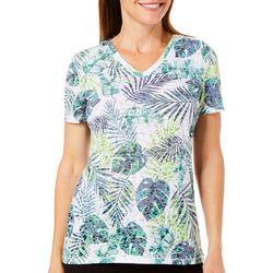 Reel Legends Womens Reel Fresh Tropical Palm Leaf T-Shirt