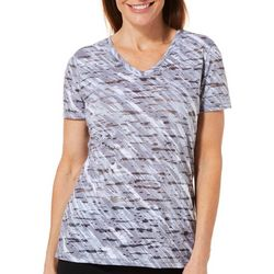 Reel Legends Womens Reel Fresh Brushstroke Burnout T-Shirt