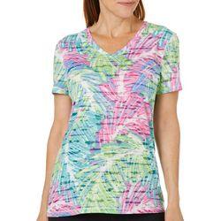 Reel Legends Womens Reel Fresh Sketched Palm Burnout T-Shirt