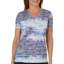 Reel Legends Womens Reel Fresh Palm Oasis Burnout T-Shirt