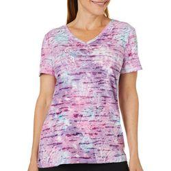 Reel Legends Womens Textured Paisley T-Shirt
