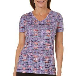 Reel Legends Womens Reel Fresh Explosion Burnout T-Shirt
