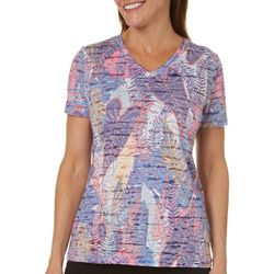Reel Legends Womens Palm Variety Burnout T-Shirt