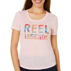 Reel Legends Womens Reel-Tec Tropical Logo Top