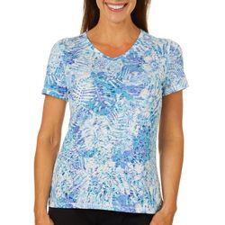 Reel Legends Womens Palms In The Jungle Burnout T-Shirt