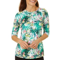 Reel Legends Womens Keep It Cool Garden Jungle Top