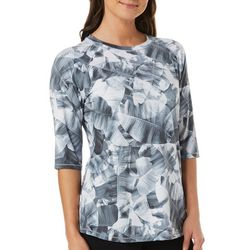 Reel Legends Womens Keep It Cool X-Ray Palms Top