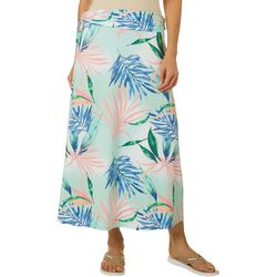 Reel Legends Womens Keep It Cool Elegant Palms Maxi Skirt