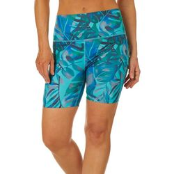 Reel Legends Womens Elite Comfort Watercolor Leaves Shorts