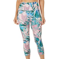 Reel Legends Womens Elite Comfort Palm Print Crop Leggings