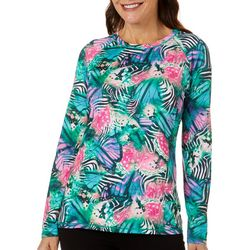 Reel Legends Womens Keep It Cool Butterfly Wing Collage Top