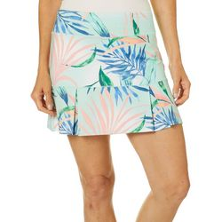 Reel Legends Womens Keep It Cool Elegant Palms Skort