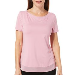 Reel Legends Womens Elite Comfort Solid Boat Neck Top
