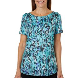 Reel Legends Womens Elite Comfort Painted Rain Neck Top