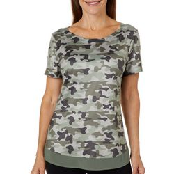 Reel Legends Womens Elite Comfort Camouflage Boat Neck Top