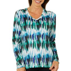Reel Legends Womens Reel-Tec Graphic Stripe Long Sleeve Top