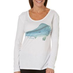 Reel Legends Womens Reel-Tec Blue Latitude Mahi Mahi Top