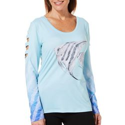 Reel Legends Womens Keep It Cool Laila Angelfish Caged Top