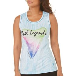 Reel Legends Womens Keep It Cool Great White Sleeveless Top