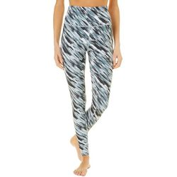 Reel Legends Womens Keep It Cool Painterly Stripes Leggings